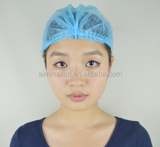 Medical disposable items surgical spunlace mesh scrub caps, nurse hat, bouffant caps