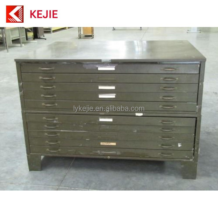 Office Used <strong>A0</strong> Paper A1 Size Map Cabinet Metal Plan Drawing Filing Cabinet Steel Blueprint Chest