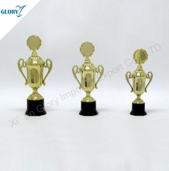 Wholesale Plastic Gold Plated Metal Trophy Cup For