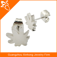 steel earrings jewellery,latest artificial earrings,wholesale ear pin with maple leaf