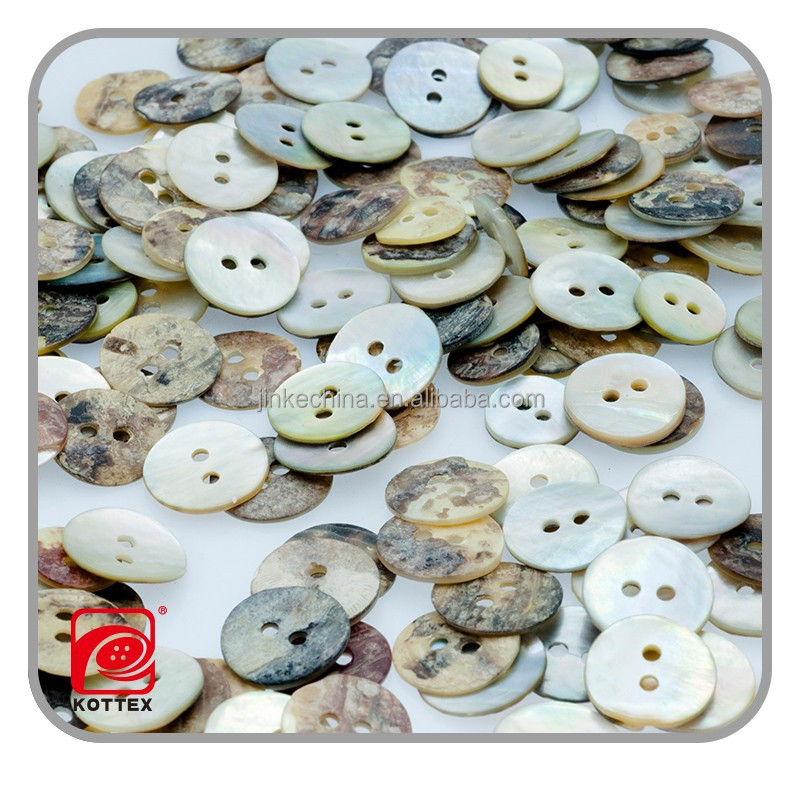 2 Holes Factory Barrel Real Agoya Shell Button For Shirt, Shell Button Has Many Sizes