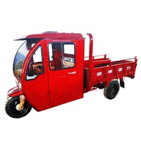Hot sale cab cargo tricycle, agricultural motor tricycle with cabin