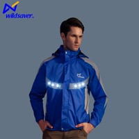 reflective waterproof led removeable hood led safety long sleeve vest