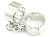 High-grade delicate Stainless steel women heavy thickening hand cuffs Alternative toy metal bondage Adult sex game sex fetish