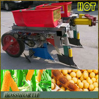high efficiency two rows hand maize seeder machine