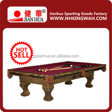2014New Style CHEAP Pool Table Hand Carved