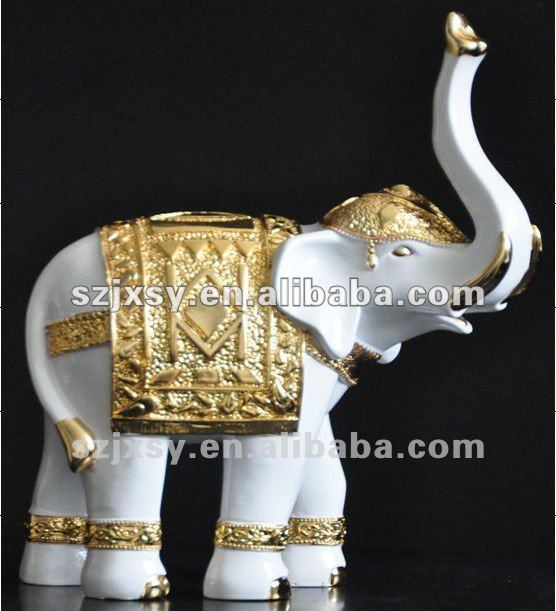 Artifical Plastic Elephant Decoration Crafts Ornaments