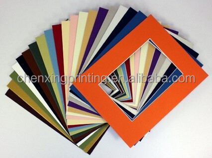 20 MIXED COLORS 8x10 Picture Mats Matting with White Core Bevel Cut for 5x7 Pictures