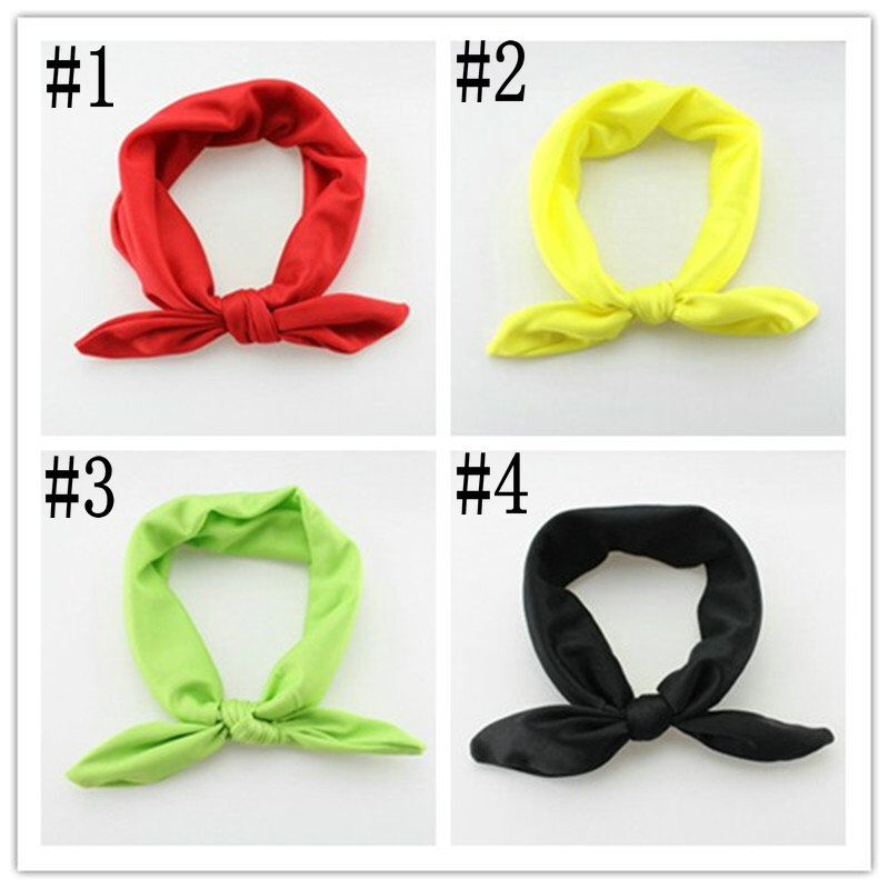 Professional Factory directly wholesale solid color fabric rabbit ear headband