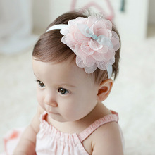 ZH1333F Baby Girl Toddler Mix Color Rose Flower Chiffon Bowknot Headband Wholesale