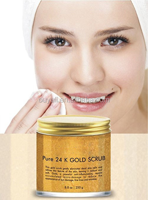 24K Gold Body Scrub and Facial Scrub Anti Aging Body and Face Scrub