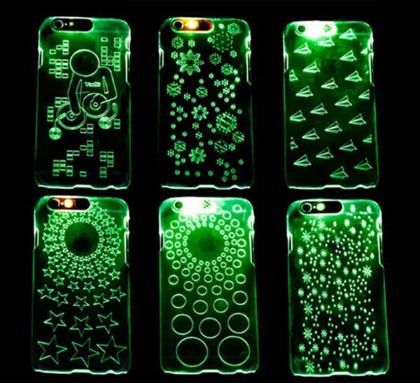 2017 Novelty Led Flash Light Back Cover for iPhone 5, Flash Light Case Cover for Apple for iPhone 5s