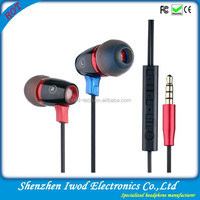Mobile phone accessories earphone wholesale dubai custom earbuds in-earphone with remote control
