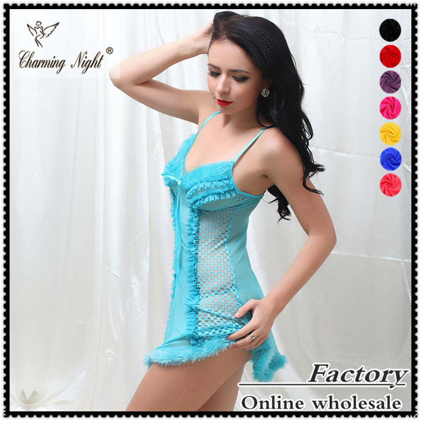 wholesale new fashion adult women's hot sexy transparent nighties for woman