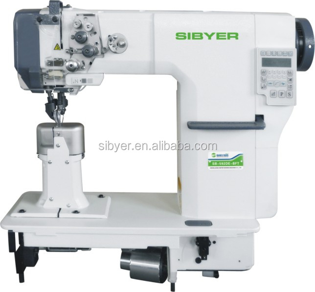 direct drive auto post bed sewing machine of double needle