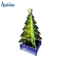 Holiday Hot Sale Christmas Tree Display Stand Rack,Christmas Tree Cardboard Display