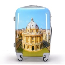 ABS+PC Film Printing Plastic Travel Luggage Carriers Suitcase
