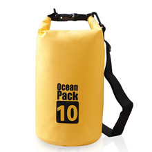 Hot Selling OEM Custom logo waterproof dry bag 500D PVC tarpaulin 15L ocean backpack durable floating pack for swimming drifting