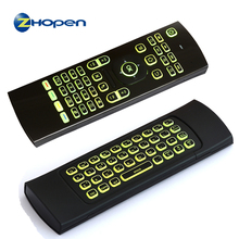 2017 Newest MX3 Air Mouse Backlight MX3 Wireless Keyboard 2.4G IR Learning Fly Air Mouse Backlit For Android TV Box