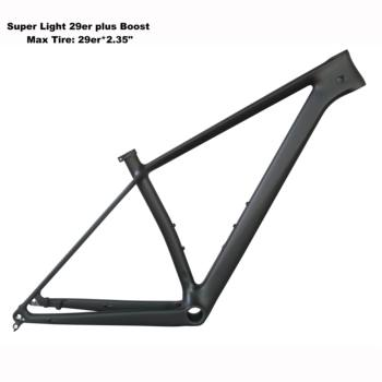 2019 carbon  Mountain Bicycle  Frame 29er Boost with BB92 with 29er*2.35 tire FM199 frame