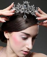 Antique Classical Floral Headwear Wedding Jewelry Hair Accessories Tiara White Rhinestone Bride Crown