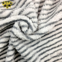 Stripe White Mixed Grey Color Microfiber White Coral Fleece Fiber Grey Hard Wire Mop Fabric