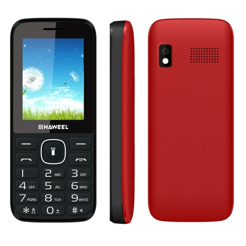 New Arrivals Bar design Cheap Haweel X1 GSM Mobile Phone/Function Feature phone with dual <strong>SIM</strong> Red