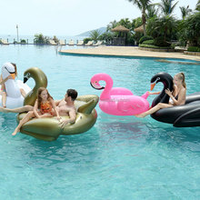 Customized outdoor pool float inflatable swan float