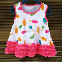 2016 wholesale New arrival fashion baby girls cotton frock normal designs