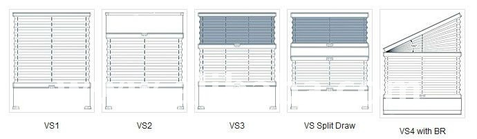 VS TENSIONED PLEATED & DUETTE BLIND