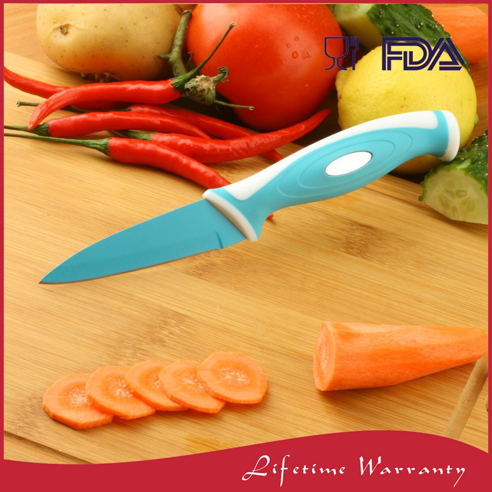 "High quality 3.5"" stainless steel pear fruit paring knife for kitchen Safety"