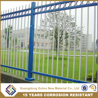 China supplier GOLON Low Carbon Steel Garden Security Fence / decorative garden fence