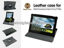 Good quality 360 degree rotating case for Asus TF700 with multi angle