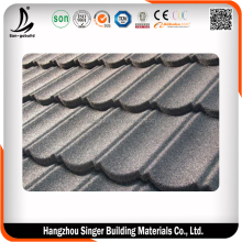 Low cost curved heat insulation stone coated metal roof tiles/roof sheet