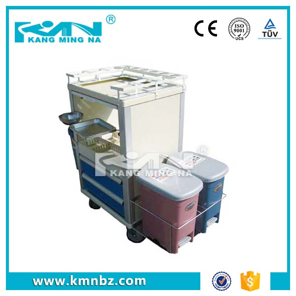 FDA Certification Durable ABS Plastic Medicine Delivery Trolley