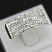 White Sapphire Lady's White Gold Filled Wedding Rings Jewelry Rings White FJBRS002