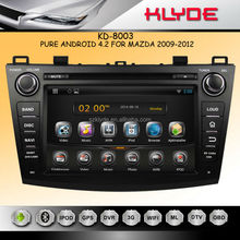 Car DVD for mazda3 2009-20012 with Pure android 4.2.2 dual Core WIFI 3G audio video player