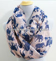Newest Tube Print Elephant Scarf