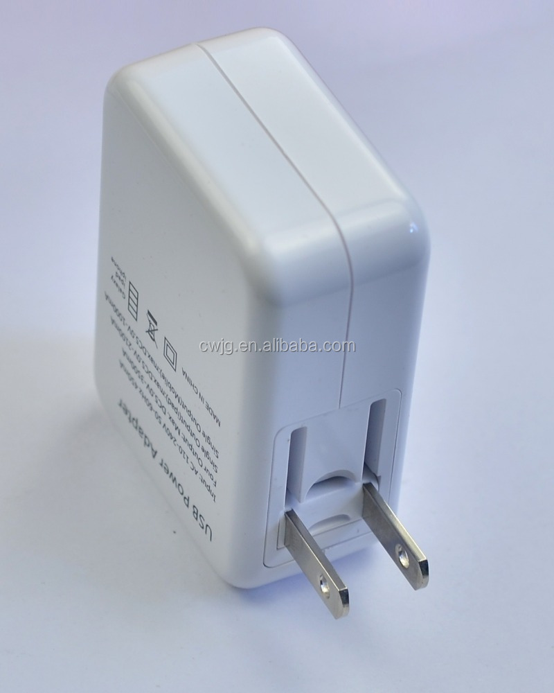UK/US/EU 4 Port usb wall charger, usb charger 4 port for phone and tablet