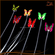 multicolor flashing butterfly braids party favor