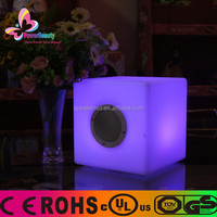 2015 high quality active rohs usb waterproof wireless mini bass portable cube bluetooth speaker with led light remote control