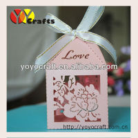 "Custom ""flower"" laser cut Wedding Gift Boxes birthday favor packaging box paper craft wedding favor box for candy"