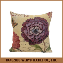 Beautiful flower design salon chair cushion cover