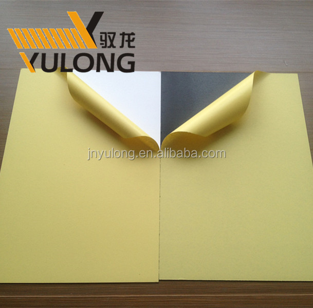 Yulong factory super thin photo album black or white pvc foam sheet