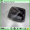 with lid of black color use food takeaway packaging box, hot food container, cooked rice tray