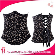 wholesale corset lace bodice dress high quality quarter cup back lace up corset