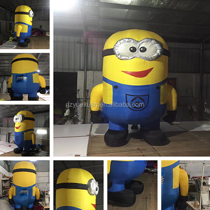 High quality advertising promotion inflatable minion cartoon, inflatable outdoor model for sale