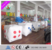 Inflatable colour dice/promotional pvc inflatable dice/PVC toys