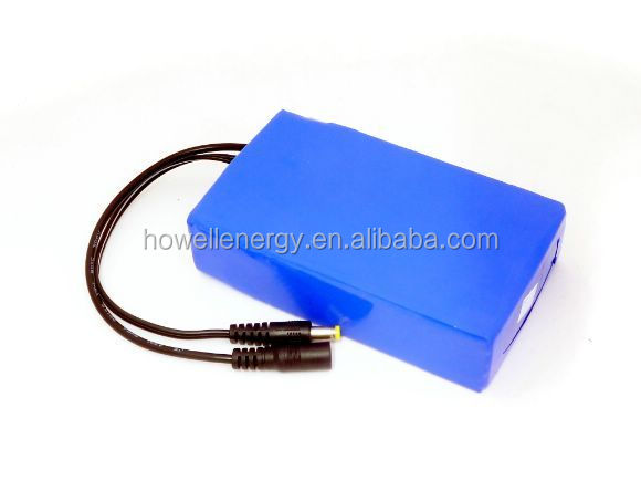 Rechargeable 6600mah 12v 18650 battery pack for portable small home appliances
