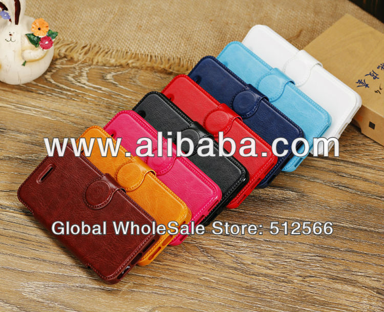 New Arrival Horse Pattern Horizontal Flip Leather Case with Button for iPhone 5C
